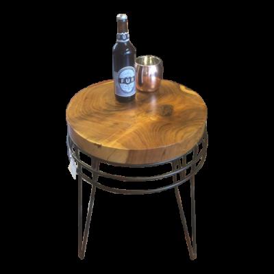Sofabord – Skammel i Akacietræ og metal stel