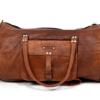 Læder taske brun - cylinderformet