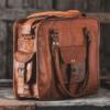 Taske af læder til kontorbrug
