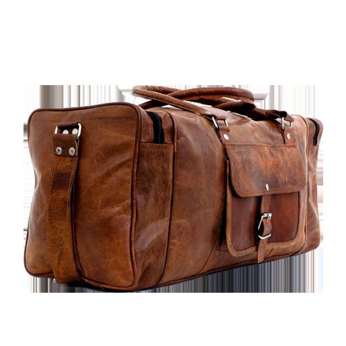 brun kvadratisk taske