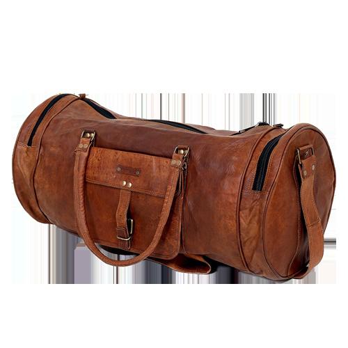 brun taske - læder cylinder