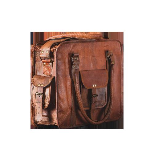 brun taske lille og stor