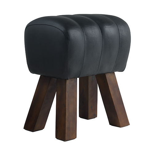 Dark leather stool