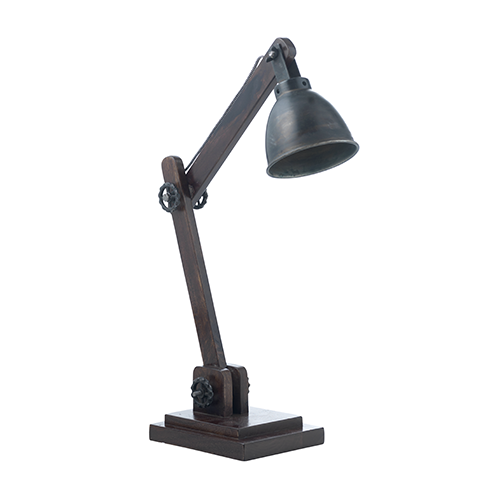 dark grey desk lamp