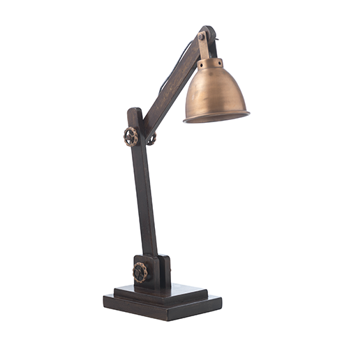 golden desk lamp